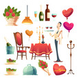 romantic dinner in valentines day for couple vector image