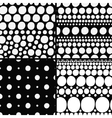 seamless backgrounds set vector image vector image