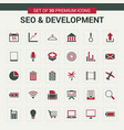 seo and developement icons green vector image vector image