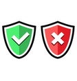 shield with a sign protection vector image