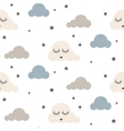 Sleepy clouds seamless pattern vector image vector image