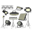 stage spotlight set flat isolated vector image vector image