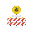 stop virus road sign vector image vector image