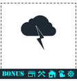 Storm icon flat vector image
