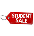 student sale label or price tag vector image