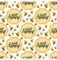 sweet honey seamless pattern packaging design vector image vector image