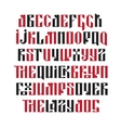 the latin stylization old slavic font vector image