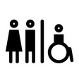 Toilet wc restroom sign vector image