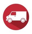 truck van delivery service design icon vector image vector image