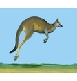 Watercolor kangaroo on blue background vector image