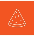 Watermelon line icon vector image vector image