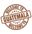 Welcome to guatemala vector image