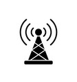 wireless connection black icon sign on vector image vector image