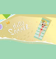 woman lying on summer beach vacation seaside sand vector image vector image