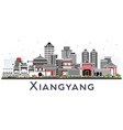 xiangyang china city skyline with color buildings vector image vector image