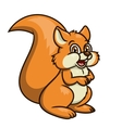 Cute smiling squirrel 2 vector image