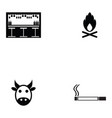 cowboy icon set vector image