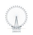 London Eye View vector image