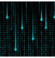 3d Matrix background vector image vector image
