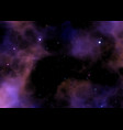 a galaxy space sky with stars and nebula vector image vector image