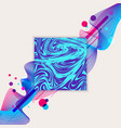 abstract wave liquid blue and purple color and vector image vector image