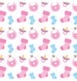baby shower set icons pattern vector image