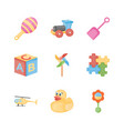 baby toys flat icons vector image vector image
