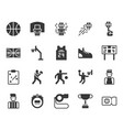 basketball equipments and activities icon set vector image vector image