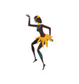 beautiful african woman dancing folk dance female vector image