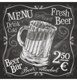 beer mug logo design template alcoholic vector image vector image