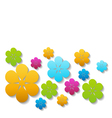 bright paper flowers vector image vector image