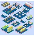 Bus Station Isometric vector image vector image