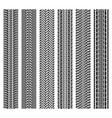 car tire patterns wheel tyre tread track imprints vector image vector image