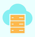 cloud server line icon simple minimal pictogram vector image vector image
