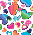 Color hearts seamless background vector | Price: 1 Credit (USD $1)