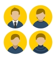 Colorful Businessman Userpics Icons Set in Flat vector image