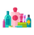 containers and tubes poster vector image vector image
