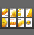Corporate brochure cover design templates set