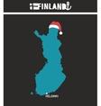 Creative geographic map of Finland - Scandinavian vector image vector image