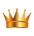 crown gold golden icon vector image vector image