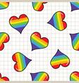 cute gay heart cartoon seamless pattern vector image vector image