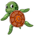 cute turtle swimming with good posing vector image