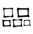 different square frames painted with a brush vector image