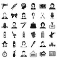 dryer icons set simple style vector image vector image