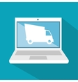 e-shipping commerce technology digital icon vector image