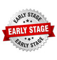 early stage round isolated silver badge vector image vector image