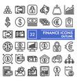 finance line icon set bank symbols collection vector image vector image