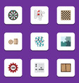 flat icon games set of lottery multiplayer guess vector image vector image