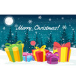 for greeting card with vector image vector image