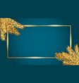 frame for christmas and new year banner template vector image